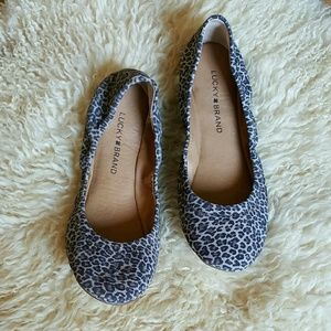Lucky Brand Animal Print Flats | Size 7.5